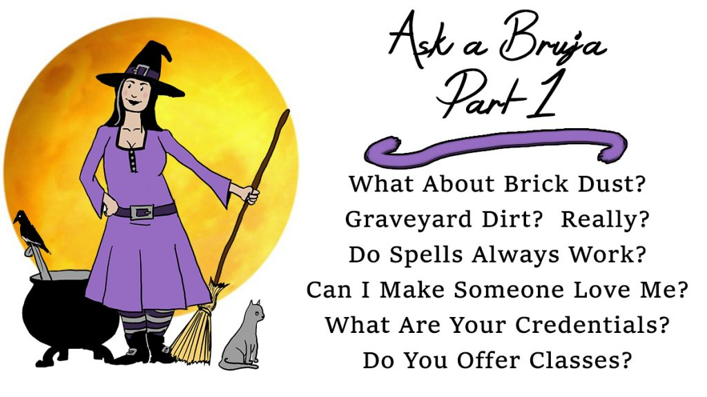 Ask a Bruja header
